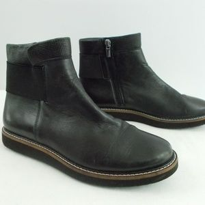 Clarks Artisan Women 7.5M Black Wedges Ankle Boots